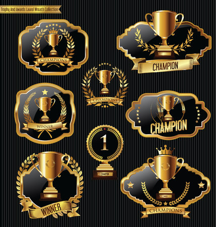 Trophy And Awards Laurel Wreath labels Collection