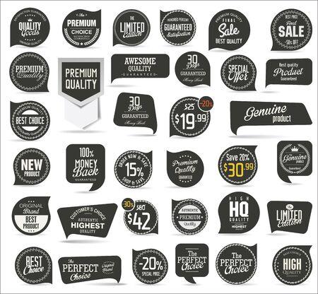 vintage ornament: Premium quality modern labels collection Illustration