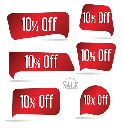 sell off: 10 percent off red sticker collection