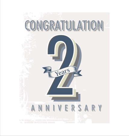 anniversary celebration: Anniversary retro vintage background