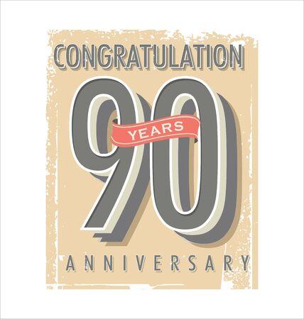 retro: Anniversary retro vintage background
