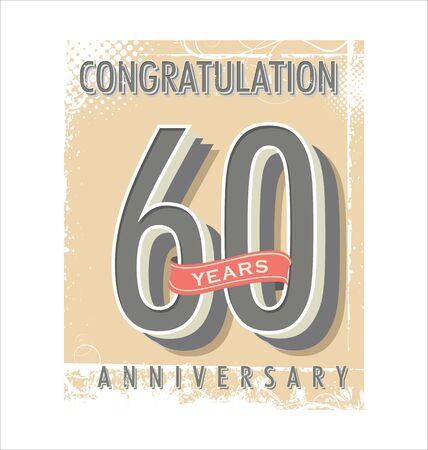 Anniversary retro vintage background