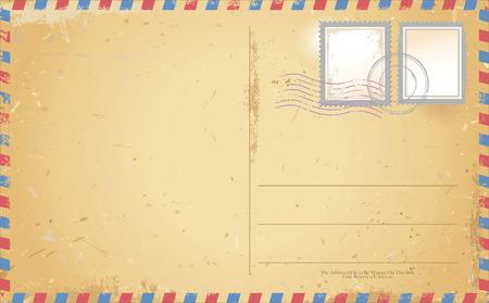 vector of old vintage postcard