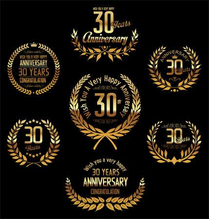 30: Anniversary laurel wreath 30 years