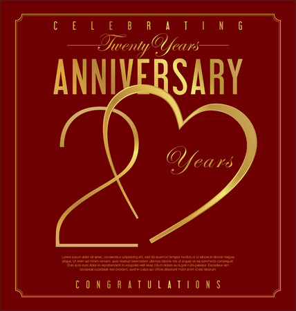 Anniversary background 20 years