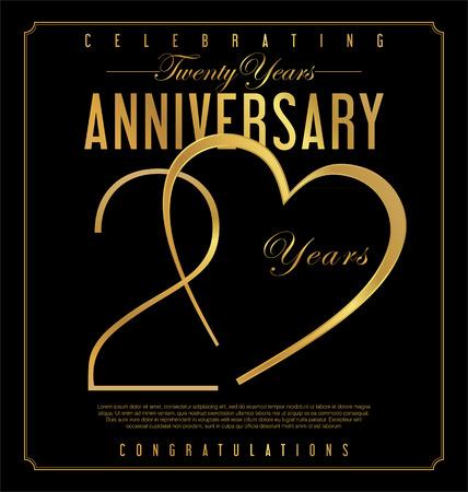 Anniversary background 20 years Ilustração Vetorial