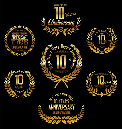 th: Anniversary laurel wreath 10 years