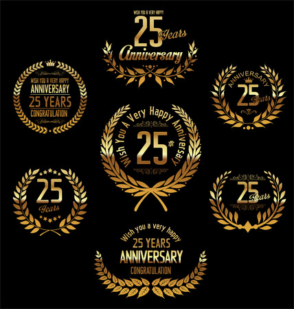 25 years old: Anniversary laurel wreath 25 years