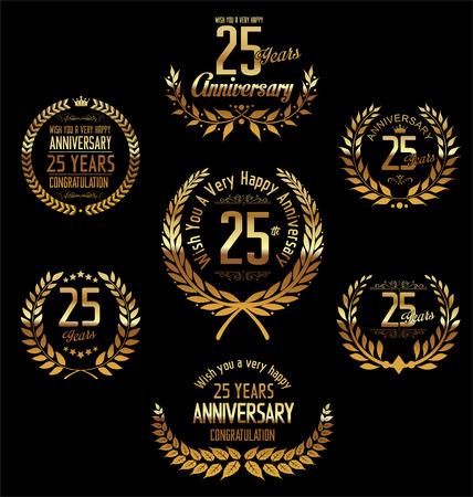 Anniversary laurel wreath 25 years