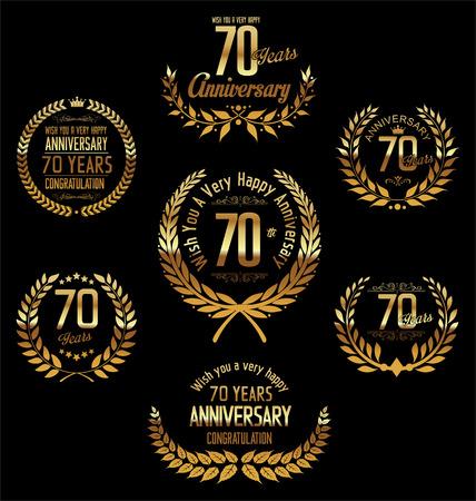 70: Anniversary laurel wreath 70 years Illustration