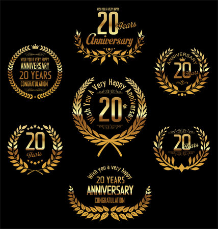 Anniversary laurel wreath 20 years