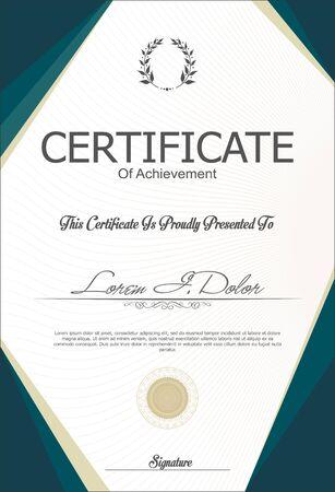 formal: Certificate or diploma template