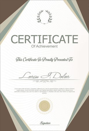the template: Certificate or diploma template