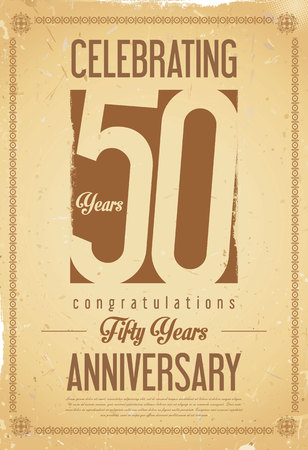 retro aislado aniversario 50 años