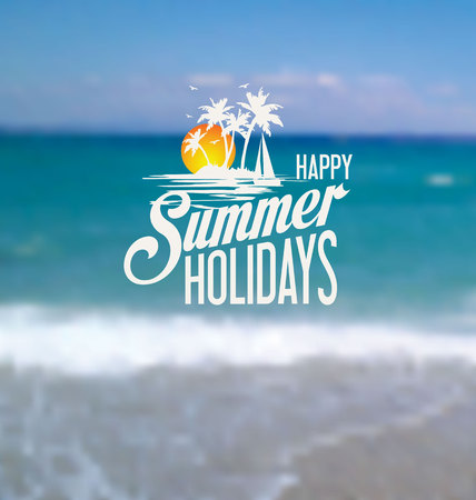 summer holiday: Happy summer holiday background