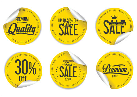 sale sticker: Sale Labels collection Illustration