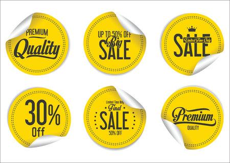 Sale Labels collection Illustration