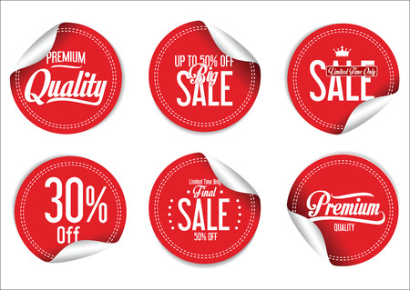 Sale Labels collection Stock Illustratie
