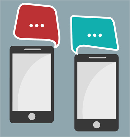 mobile communication: Mobile phone communication abstract background