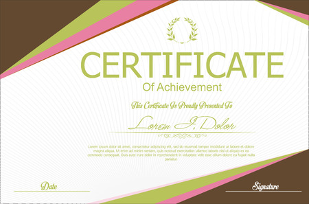 certificate template: Modern certificate or diploma template Illustration