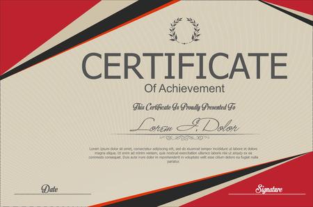 Modern certificaat of diploma template