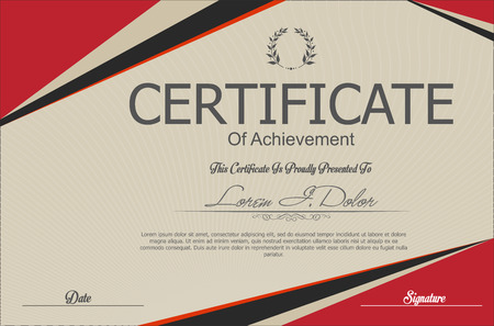 retro design: Modern certificate or diploma template Illustration