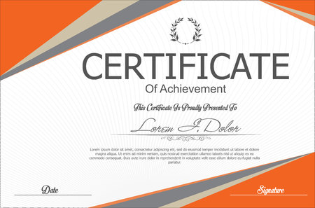 Modern certificate or diploma template Ilustrace