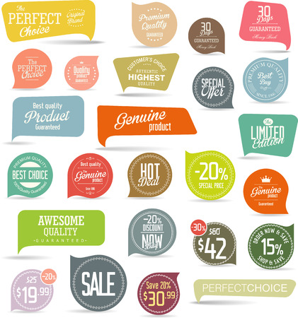 Modern sale stickers collection