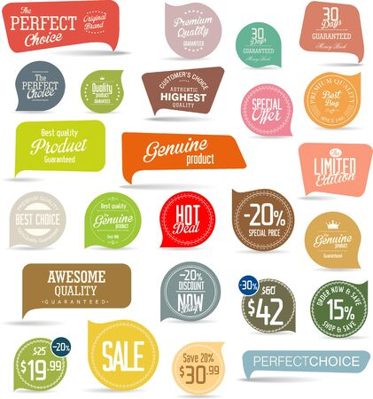sale tags: Modern sale stickers collection