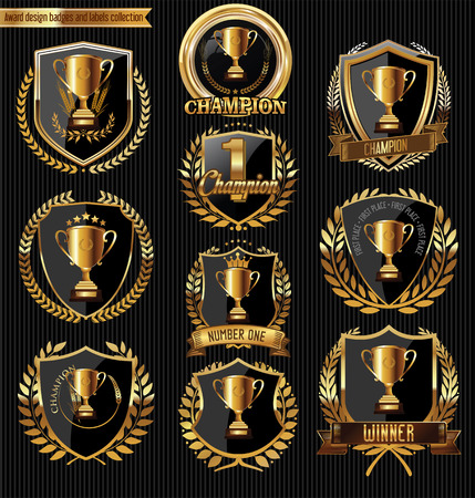commemorate: Award design badges and labels collection