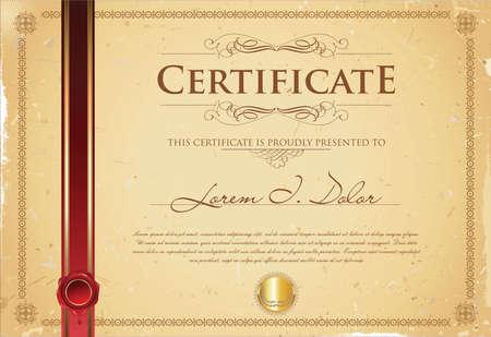 certificate template: Certificate or diploma template vector