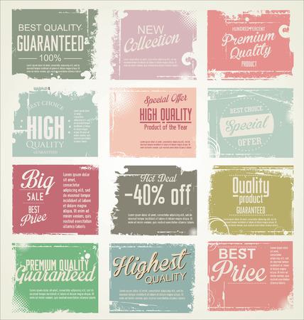 Premium-Qualität retro vintage Etiketten Sammlung