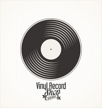 Vinyle magasin de disques rétro grunge bannière