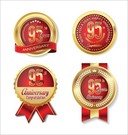 95: Anniversary golden badges collection 95 years
