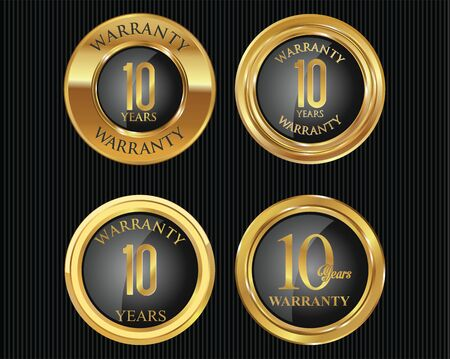 10 years: 10 years warranty golden labels collection