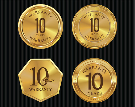 webshop: 10 years warranty golden labels collection