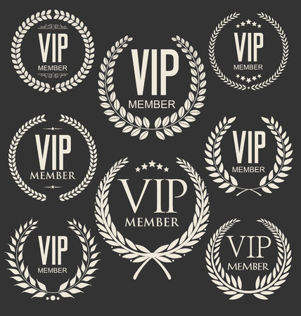 high society: Vip member badge collection Illustration