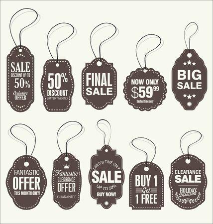 cut price: Vintage Style Sale Tags Design