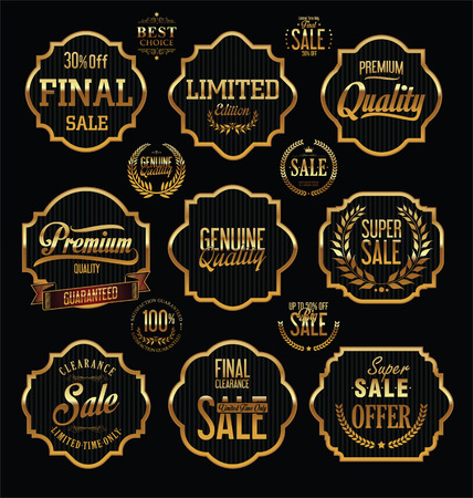 quality guarantee: Premium Quality and Guarantee Labels with retro vintage styled design