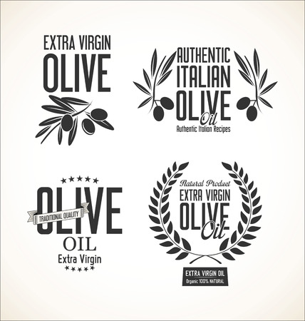 black branch: Collections of olive oil labels