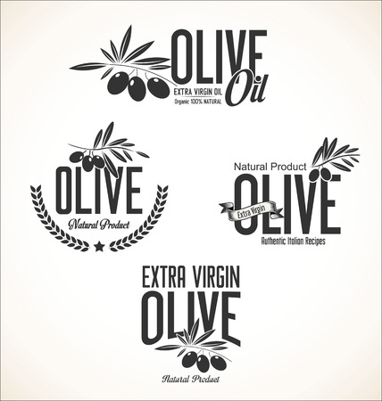 picking fruit: Collections of olive oil labels