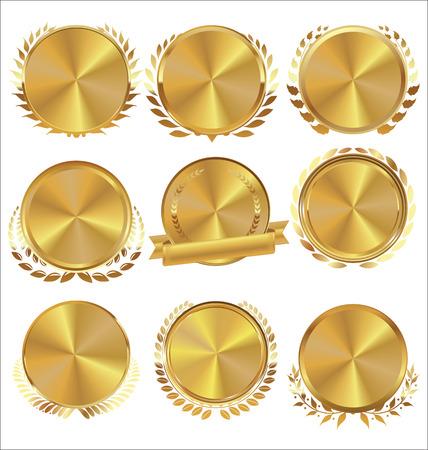 medallion: Golden medallion with laurel wreath collection
