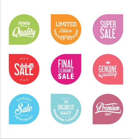 price tag: Sale price tag modern design collection Illustration