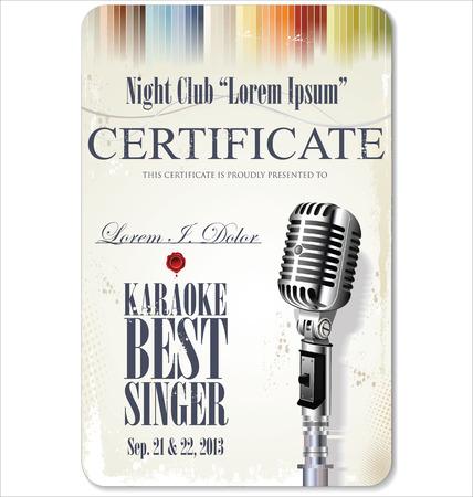 jazz singer: Retro vintage microphone design background