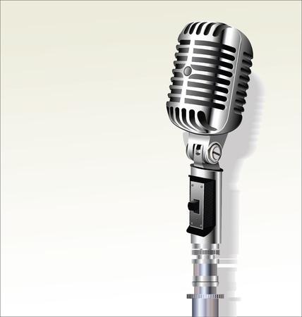 voices: Retro vintage microphone design background