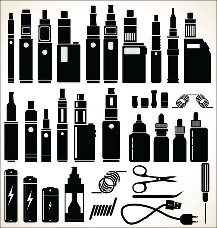 Elements for Vapor bar and vape shop electronic cigarette collection
