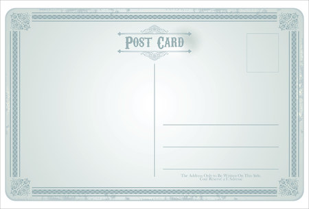 old postcards: Postcard vector retro vintage design Illustration