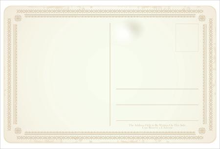 postcard: Postcard vector retro vintage design Illustration