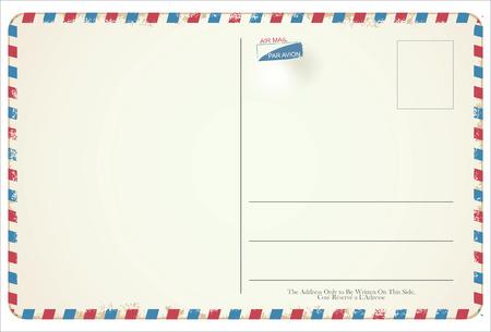 Postcard vector retro vintage design  イラスト・ベクター素材