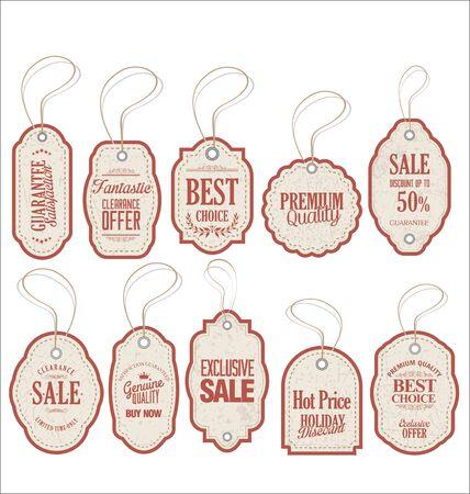 sale tags: Vintage Style Sale Tags Design